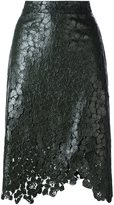 House of Holland lace overlay wrap skirt - women - Polyester/rubber - 8