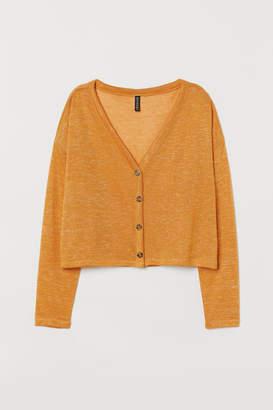 H&M Loose-knit Cardigan - Yellow