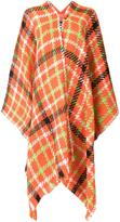Moschino checked poncho - women - Nylon/Wool - One Size