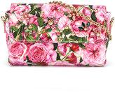 Dolce & Gabbana floral print shoulder bag - kids - Viscose/metal/glass - One Size