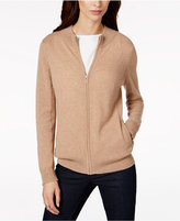 Charter Club Zip-Front Cashmere Cardigan, Created for Macy's