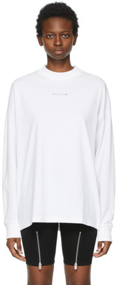Alyx White Visual Logo Long Sleeve T-Shirt