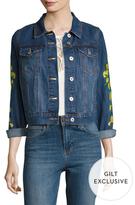 Bagatelle Lemon Embroiderey Denim Jacket