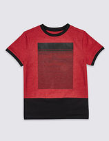 Marks and Spencer Cotton Rich Short Sleeve T-Shirt (3-14 Years)