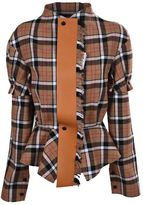 Loewe Check Jacket With Leather Tie