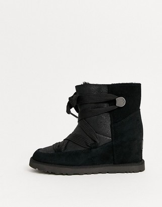 UGG Classic Lace up ankle boots in black