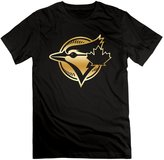 SLIAT Men's Toronto Blue Jays Primary Gold Logo T-shirt