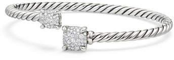 David Yurman Châtelaine Pave Diamond Bypass Bracelet