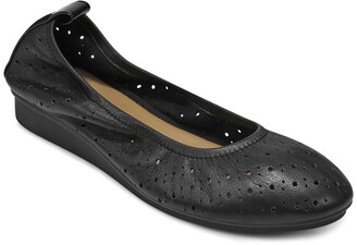 Aerosoles Wooster Perforated Leather Ballet Flat - Wide Width Available