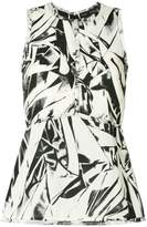 Proenza Schouler embroidered sleeveless top
