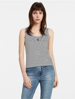 Calvin Klein Striped Logo Tank Top