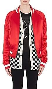 Amiri Men's Reversible Satin Bomber Jacket - Red