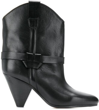 Isabel Marant Cone Heel Knot Detail Cowboy Boots