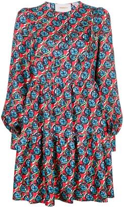 La DoubleJ Long-Sleeve Floral Print Dress