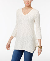 Style&Co. Style & Co Lace-Yoke Handkerchief-Hem Tunic, Only at Macy's