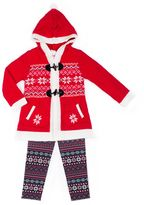 Little Lass Girls 4-6x Sweater, Penguin Tee & Leggings Set