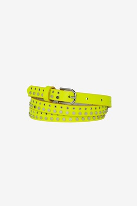French Connenction Carlotta Neon Studded Skinny Belt