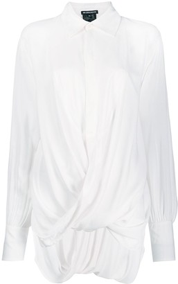 Ann Demeulemeester draped front shirt