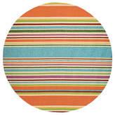 Couristan Covington Sherbert Stripe Hooked Round Rugs