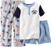 Carter's 3-pc. Baseball Pajama Set - Preschool Boys 4-7