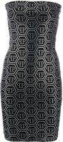Philipp Plein logo studded bandeau dress
