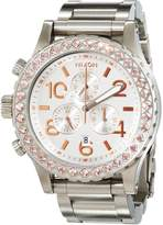 Nixon Women's 42-20 Chrono A0371519 Silver Stainless-Steel Quartz Watch