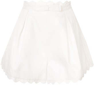Zimmermann Super Eight scalloped shorts