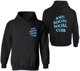 Partiss Unisex Anti Social Club Boys Girls Kanye West Casual Pullover Hoodie(Chinese S,)
