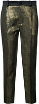 Lanvin metallic straight-leg trousers - women - Silk/Polyester/Acetate - 34