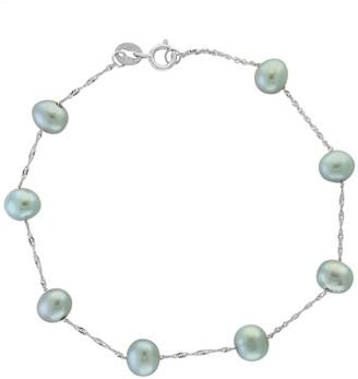 Effy 14K White Gold and 5.5MM Grey Freshwater Pearl Bracelet