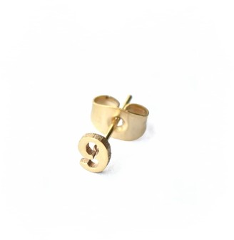 Florence London Little Number 9 Earring 18ct Plating