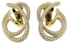 Chanel 18K Yellow Gold Diamond Swirl Earrings