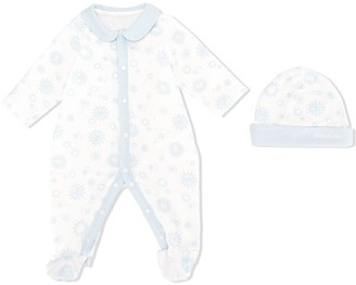 Roberto Cavalli Junior Sun & Planet print babygrow and hat set