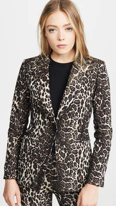 Alice + Olivia Toby Fitted Angled Front Blazer