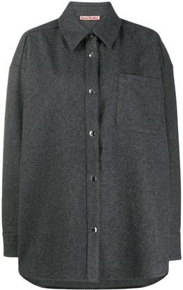 Acne Studios Oversized Buttoned Flannel Overshirt