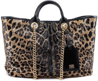 Dolce & Gabbana Leopard Print Tote Bag