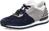 Tod's Colorblock Trainer Sneaker, Navy/Gray