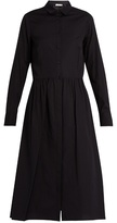 Vince Point-collar cotton-poplin shirtdress
