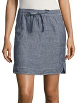 Lord & Taylor Petite Cross-Dyed Linen Skirt