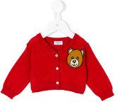 Moschino Kids Teddy Bear embroidered cardigan
