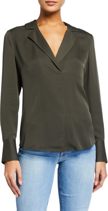 Frame Fitted Notch-Collar Shirt