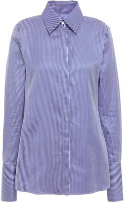 Victoria Victoria Beckham Knotted Striped Cotton-poplin Shirt
