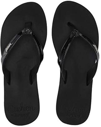 Reef Cushion Luna (Black Patent) Women's Sandals