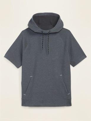 Old Navy Dynamic Fleece Short-Sleeve Pullover Hoodie for Men