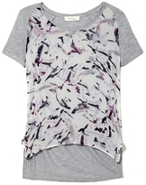 Vince Camuto Two by Painterly-print Mixed-material T-Shirt