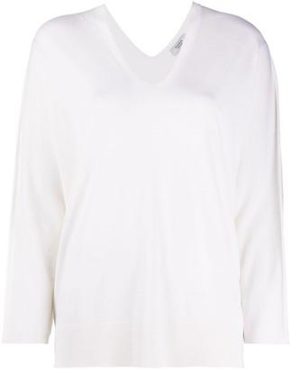 Peserico V-neck loose-fit jumper