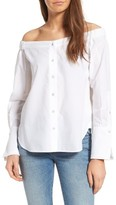 DL1961 Women's East Hampton Off The Shoulder Blouse