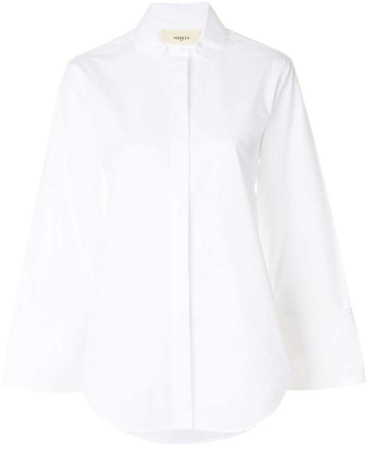 Ports 1961 concealed placket shirt