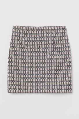 H&M Jacquard-knit skirt
