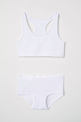H&M Top and Boxer Briefs - White